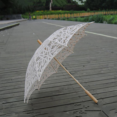 Sun Lace Umbrella Embroidery for Wedding