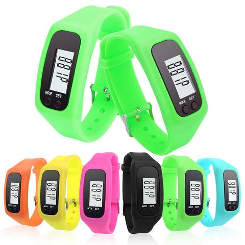 Pedometer Bracelet Digital LCD Run Step Calorie Walking Distance Counter Multifunction Long-life Battery
