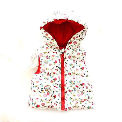 Sodawn Hot Sale Girls' Flowers CottonCute Waistcoat Kids Vest Children Free Shipping Autumn Lace