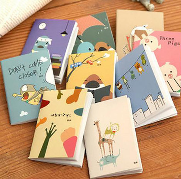 School Planner 9 Cartoon Styles 5.7 by 7.8cm Notebook K6732