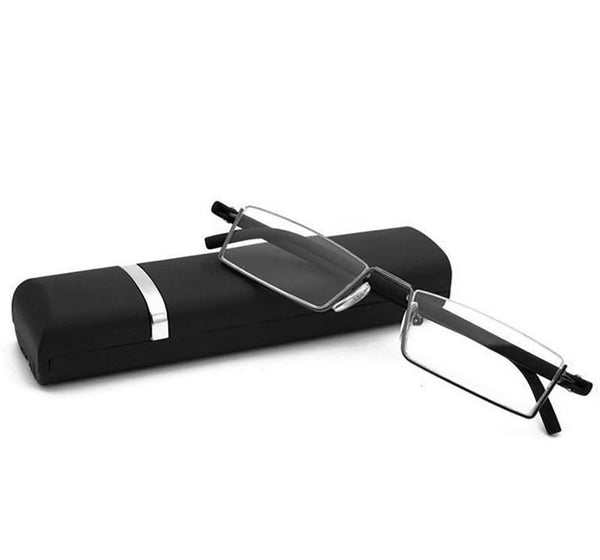 Unisex Reading Glasses with Case Folding Ultralight Resin Lenses Presbyopic Diopter