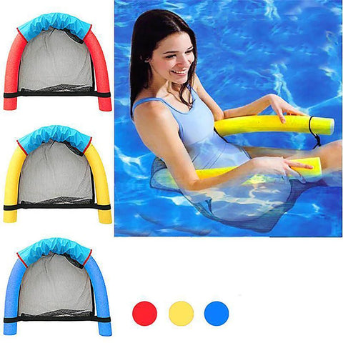 6.0x150CM Children Kids Soft Noodle Pool Mesh Waterfloating Bed Chair Pool Noodle Chair Swimming Seat