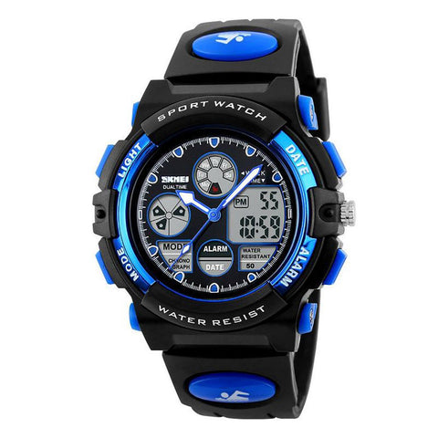Unisex Children's Watch Sport Waterproof Military Dual Display LED