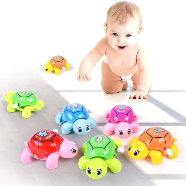 Cute Cartoon AnimalClockwork Tortoise Baby Turtles Toys Infant Crawling Wind UpToy Educational Kids Classic Toy Random Color