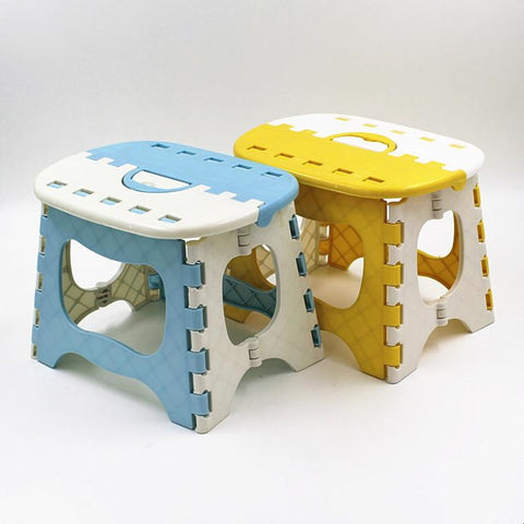 Plastic Folding Stool Thicken Step Portable Child Convenient Ottoman