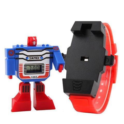 Boy's Watch Robot Transforamation Toy LED Digital Cartoon Sport
