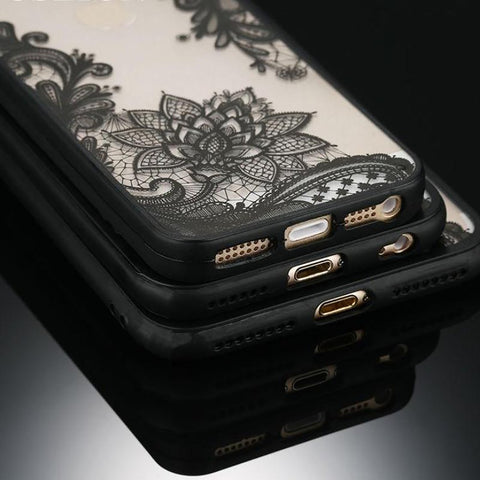 Floral Iphone Fitted Case Dirt-resistant