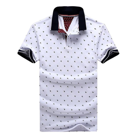 New Brand Polos Mens Printed POLO Shirts 100% Cotton Short Sleeve Camisas Polo Casual Stand Collar Male Shirt 4XL EDA234