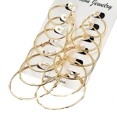Women's Big Hoop Earrings Steampunk Jewerly Engagement Gift