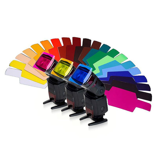 20 Color Photographic Gels Filter Card Lighting Diffuser for Canon Nikon Yongnuo Flash Nissin Speedlite