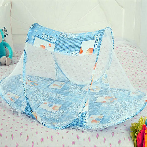 3 Colors Portable Baby Bed Crib Folding Mosquito Net Cushion Mattress Summer Infants Polyester Mesh Netting