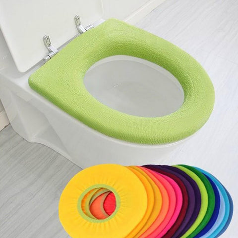 Toilet Seat Cover Warner Cushion Pad Pedestal Lycra Use In O-shaped Flush Comfortable for Bathroom