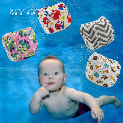 Unisex Baby's 0-3 years Swim Diaper Leakproof Reusable Adjustable
