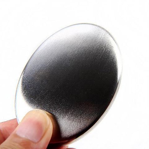 Stainless Steel Soap Oval Shape Magic Eliminating Odor from Hands Kitchen Bar