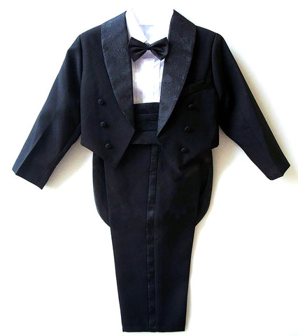 Boys Suits for Weddings Kids Prom Suits Black/White Wedding Tuxedo Children Clothing Set Boy Formal Costume