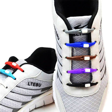 Unisex All Ages Lazy Shoelaces Buckles No Tie Silicone Elastic All Sneakers Fit 10pcs/pack