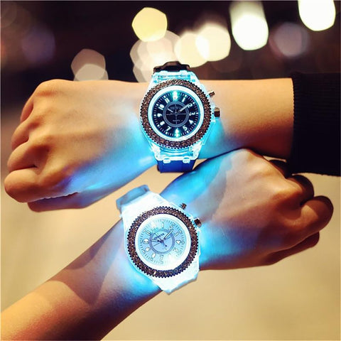 Unisex Kid's Watch Electronic Colorful Light Source Sister Brother School Birthday Gift
