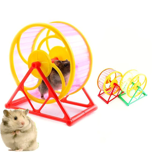 Pet's Wheel Toy Play With Holder Plastic Jogging Exercise Useful Training Drop for Rodent Hamster