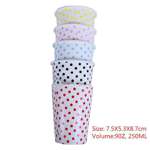 Paper Cups Polka Dots Degradable Disposable for Wedding Kids Birthday Party Decoration 10pcs/Lot