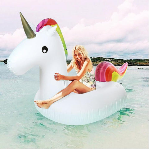Inflatable Giant Unicorn Air Sofa Mattresses Floating Mattress Swimming Pool Float Raft Toyfor Beach Days