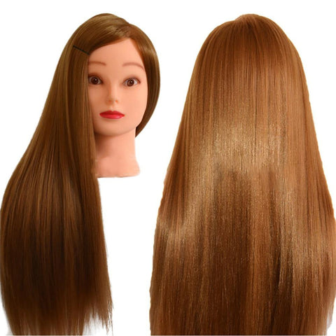Big Sale Professional Styling Head With Golden Hair 60cm Thick Wig Heads For Hairdressers Training Head Nice Mannequin