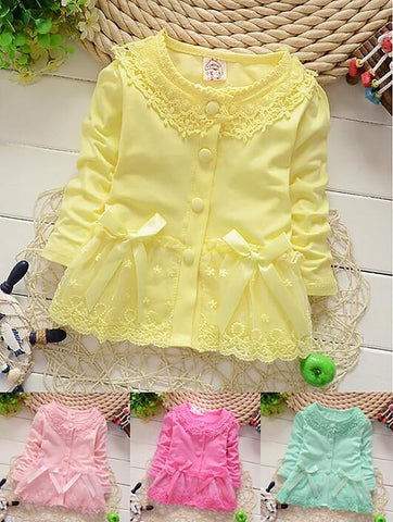 Girl's Blouse Lace Long Sleeve