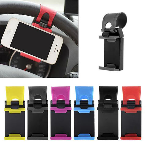 Universal Car Phone Holder Mount For Iphone 5 5s 6 6s Plus Stand Clip Grip Rubber Samsung Xiaomi HTC