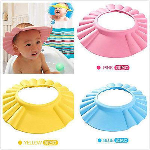 Useful Baby Shower Cap Children Shampoo Bath Wash Hair Shield Hat Soft & Adjustable