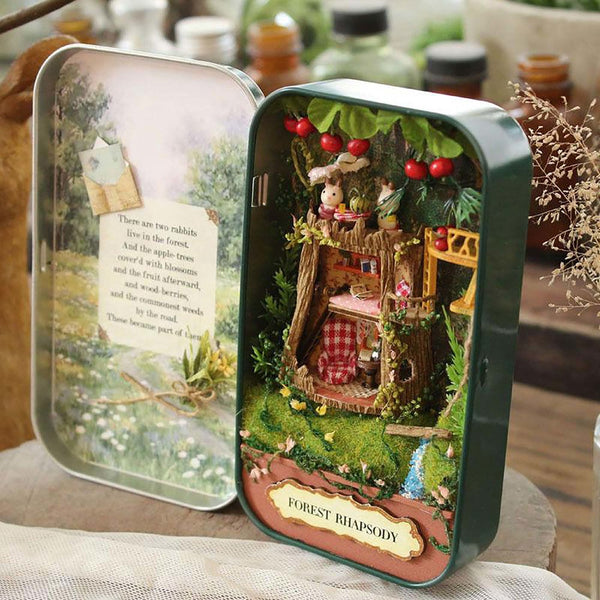 Doll House Diy Miniature Wooden Puzzle Dollhouse Miniaturas Furniture ToyFor Birthday Gift Box Theatre Trilogy