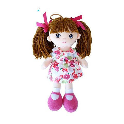 InGrace Soft Fashion Girls Mini Dolls Plush And Stuffed Flower Dress Toys Birthday Gifts Baby Girl's First Doll 25CM