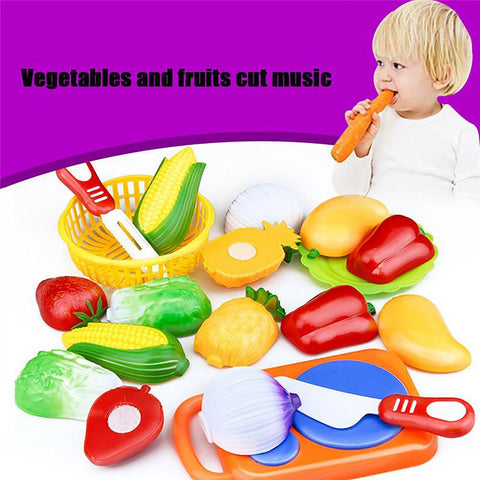 Kid's Cutting Fruit/Vegetable Pretend Toy Educational 12pcs/set