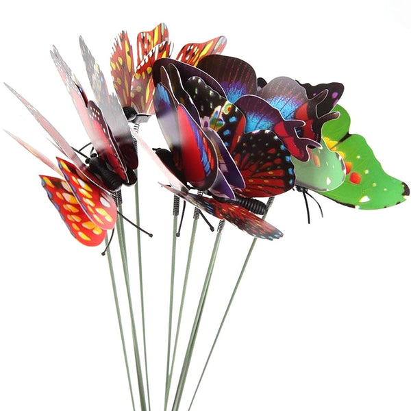 Hot Sale 10pcs Colorful Creative Flowerpot Decor Garden Decoration Butterfly Beautiful Ornaments