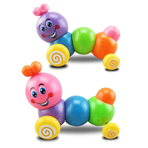 Cute Cartoon Colorful Insect Wind Up Baby Toys Children Developmental Educational Toy Infant Running Clockwork