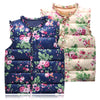 6-Style Autumn&Winter Sweet Floral Children's Girls Jackets Cotton Warm Kids Vest For Girl Waistcoat Children Outerwear Clothing