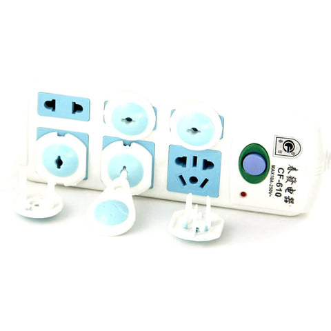 6pcs Baby Safety Russian European Standard Electric Socket Child Protection Plastic Security Lock Outlet Plugs in Sockets