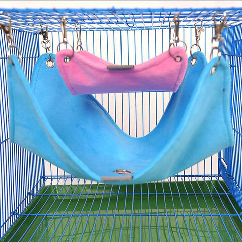 Small Pet's Hammock Toy Plush Cloth Hanging Cage Accesories for Hamster Chinchilla Guinea Pig Rabbit Sizes S M L