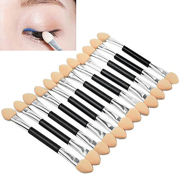 12x Makeup Double-End Eye Shadow Sponge Brushes Applicator Cosmetic Beauty Tool ACXS
