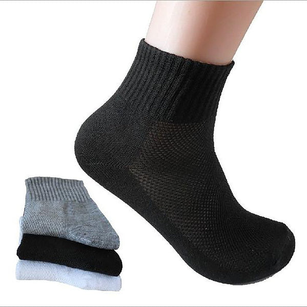 Men's Mesh Socks Breathaable Thin Cotton Polyester Spandex Spring Summer 10pairs/pack