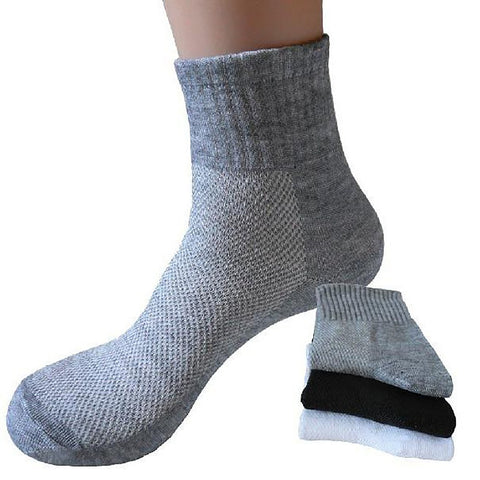 Men Spring Summer Black Mesh Socks Man Cotton Male Gray 10pairs/lot