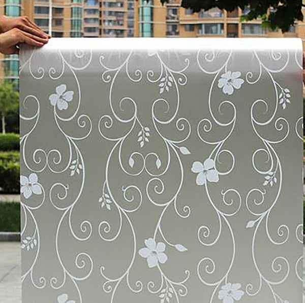 45CM*200CM Long Self-adhesive Film Window Film Frosted Glass Sliding Door Bathroom Stickers Translucent Opaque #2-64