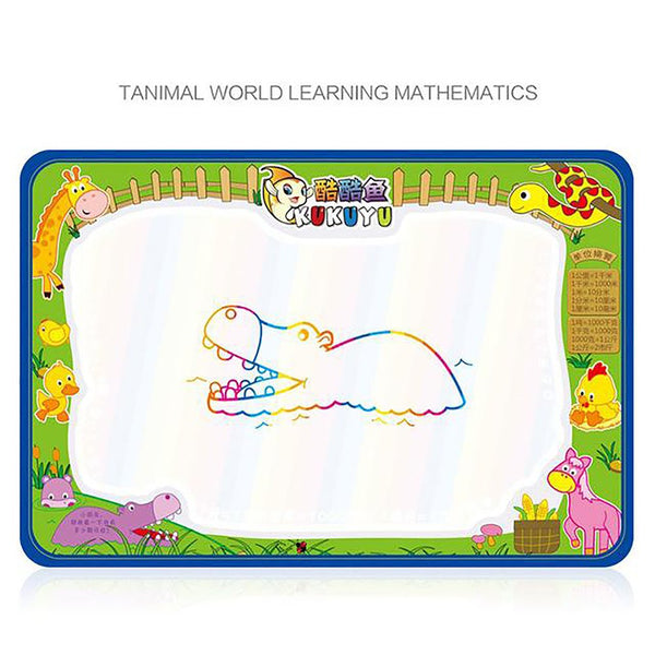 Kid's Drawing Play Mat with Magic Water Pen 50x34cm Doodle Board