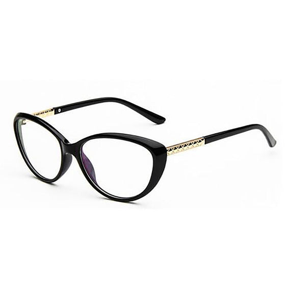Women's Eyeglasses Frame Anti-Fatigue Light Cat Eye Optical Clear UV400 Lenses for Computer Reading