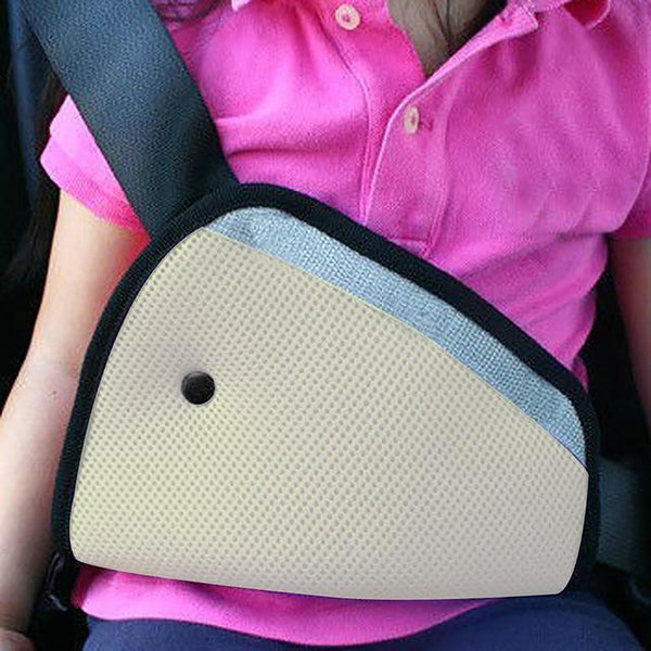 Triangle Baby Kid Car Safe Fit Seat Belt Adjuster Safety Adjust Device Child Neck Protection Positioner Breathable