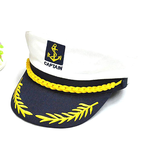 Unisex Captain Cap Cotton Adjustable Twill Knitted Embroidery Navy Uniform
