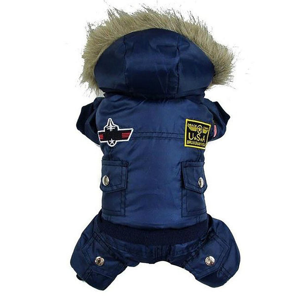 Pet's Hoddie Jumpsuit Winter Warm Padded Fashionable XS-XL