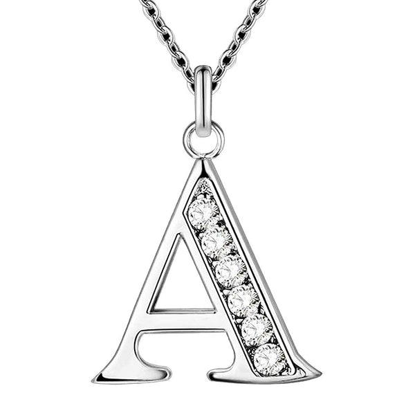 Letter A-SFree Shipping Silver Plated Necklace, Stamp 925 Fashion Jewelry Fashion Pendant /XYLQNNAG XYLQNNAG