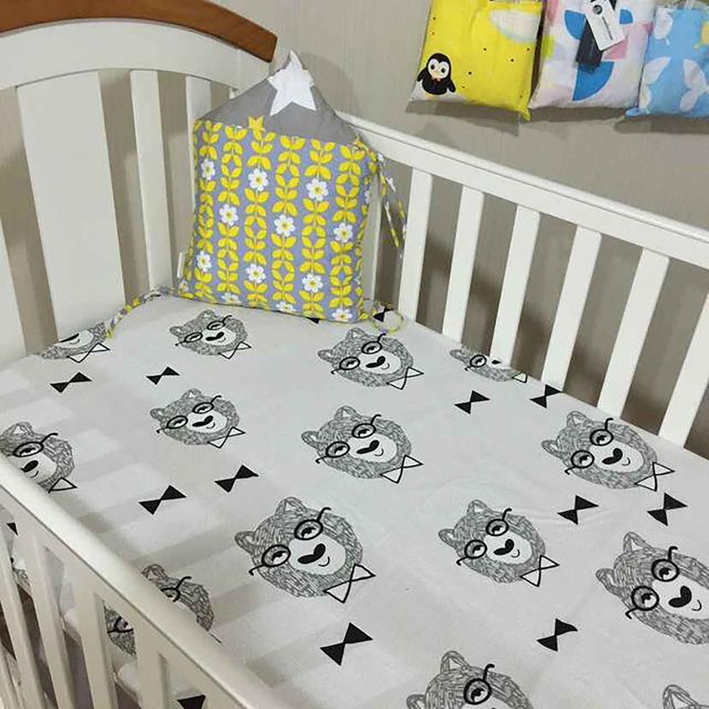 Details about Baby Crib Bedding 70x130cm Tree Crown Cloud Design Textile  Sheets Bed Cover Matt