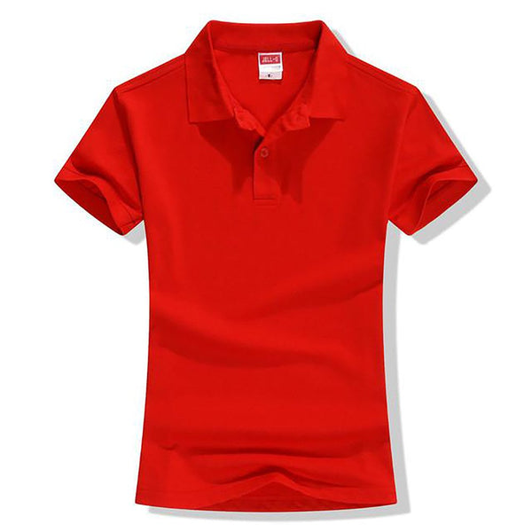 Women's Polo Shirt Anti-pilling Short Sleeve Cotton Casual Solid