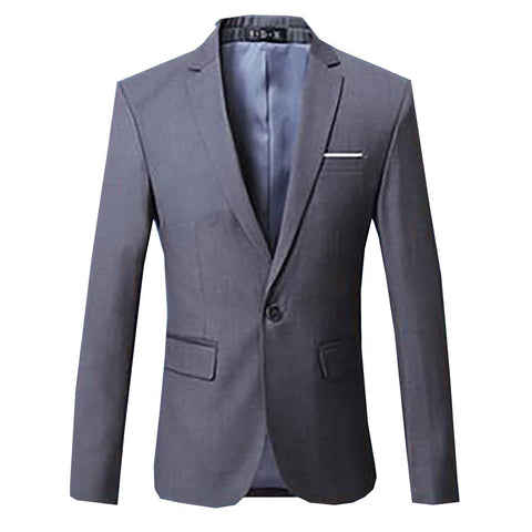 Men's Blazer Casual Slim Fit Regular Notched Full Sleeves Single Breasted Formal