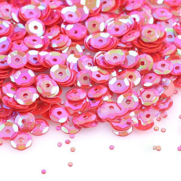 Round Sequin 2000 pcs 6mm diameter 10 AB Colors for Crafts Sewing Scrapbooking Projects